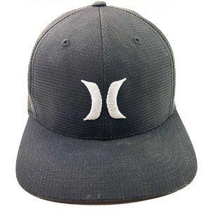 Hurley Snapback Black Hat Size Large/ X-Large